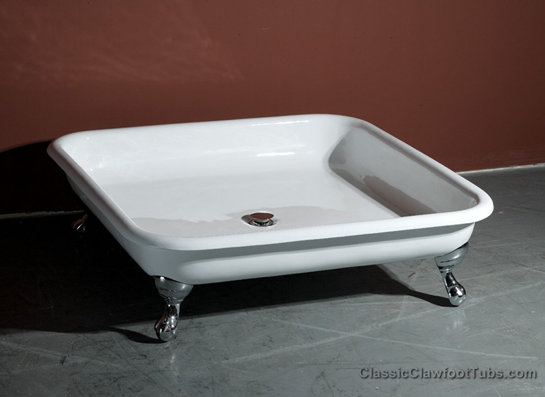 42 Quot Cast Iron Clawfoot Shower Pan Classic Clawfoot Tub