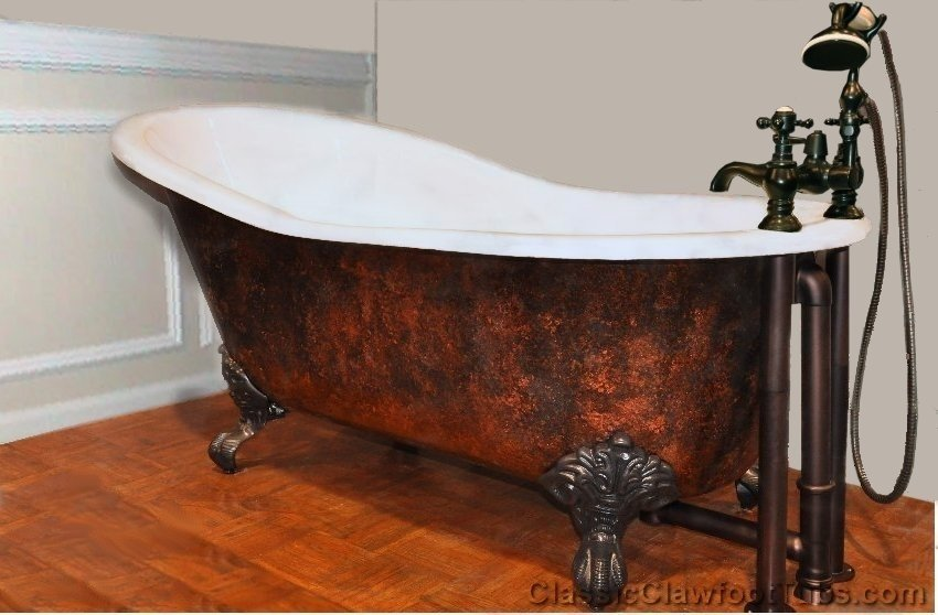 Great 57u0026quot; Cast Iron Slipper Clawfoot Tub