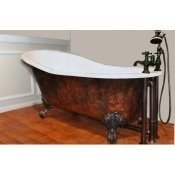 "57"" Cast Iron Slipper Clawfoot Tub"