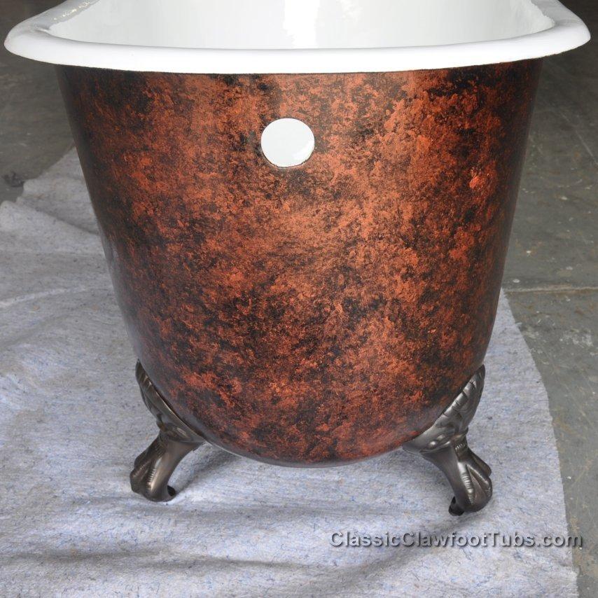 57 Cast Iron Swedish Slipper Tub Classic Clawfoot Tub