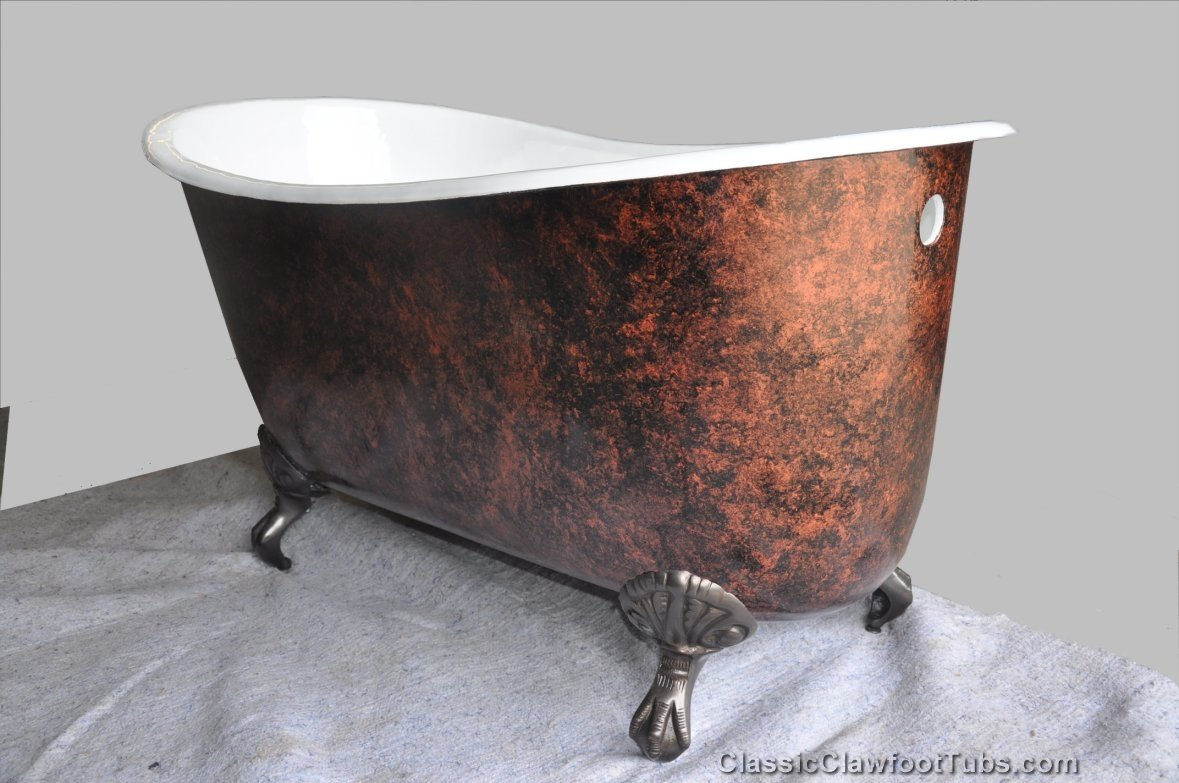 57 Cast Iron Swedish Slipper Tub Classic Clawfoot Tub