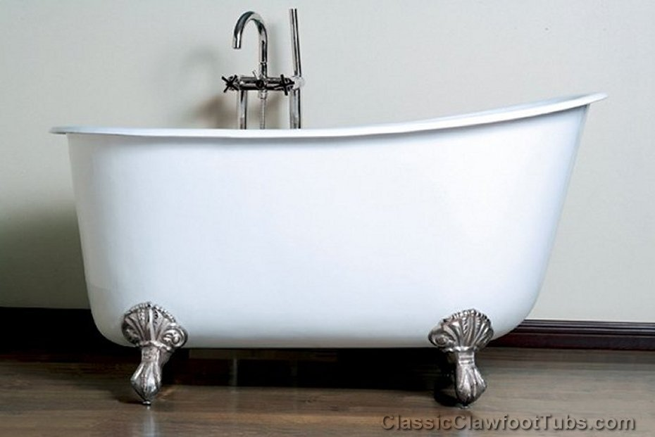 58 Quot Cast Iron Swedish Slipper Tub Classic Clawfoot Tub