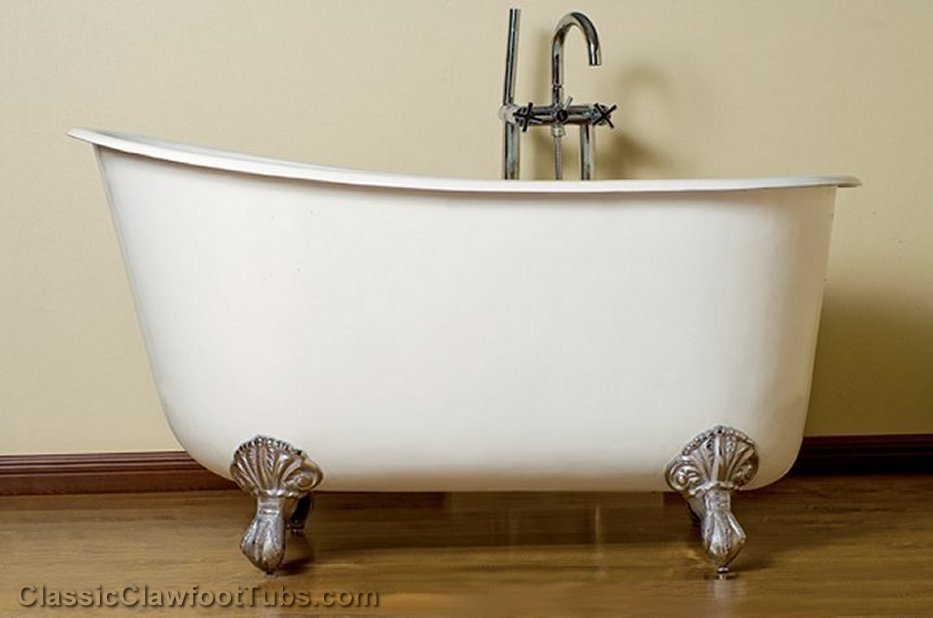 clawfoot tub bathtub footed classic iron cast lg a slipper swedish