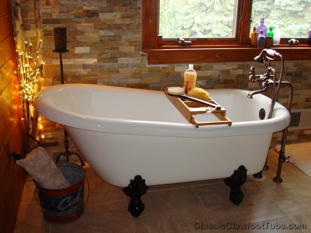 clawfoot baby bath tub. 60  Acrylic Slipper Clawfoot Tub Classic