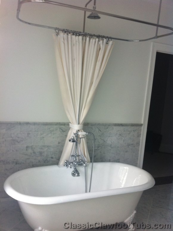 61 Quot Cast Iron Double Ended Clawfoot Tub Classic Clawfoot Tub