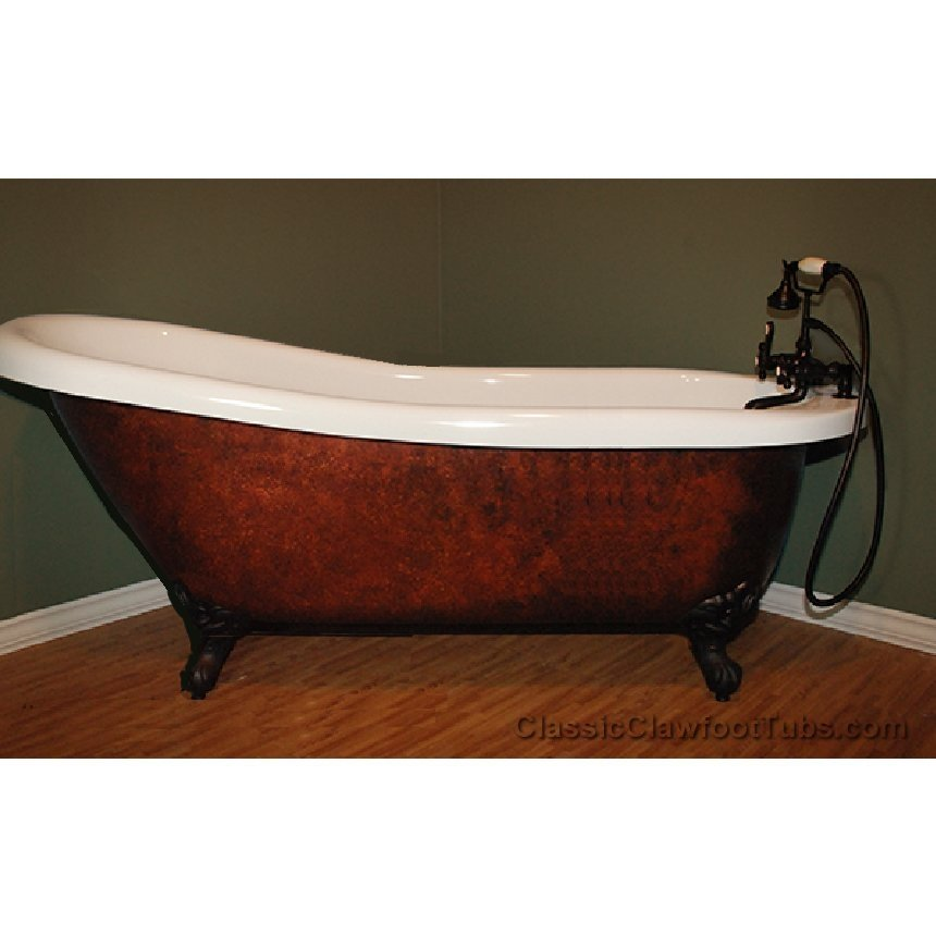 Copper clawfoot bathtubs 28 images dunlap copper for Copper claw foot tub