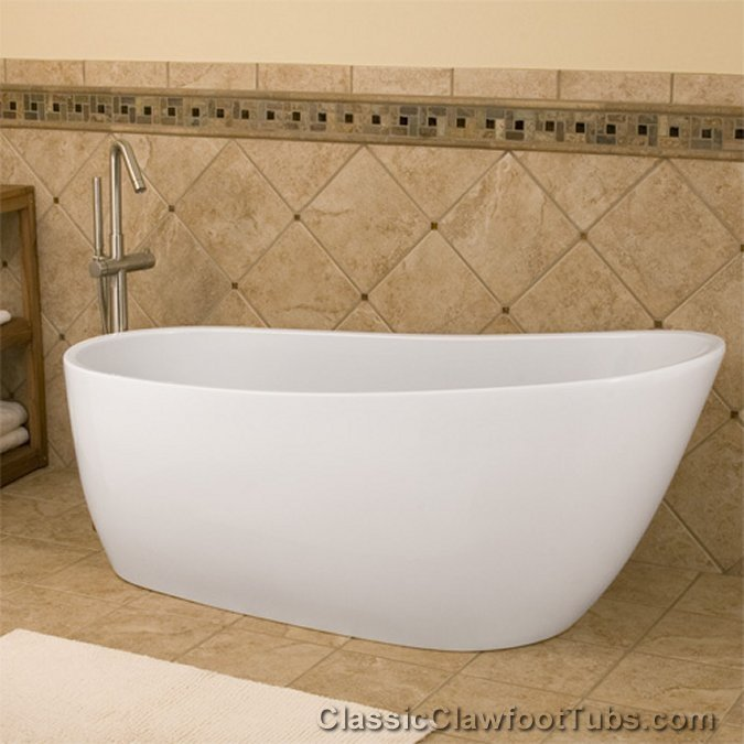 68 quot  Acrylic Free Standing Slipper TubAcrylic Clawfoot Bath Tubs   Classic Clawfoot Tub. Free Standing Claw Foot Tub. Home Design Ideas