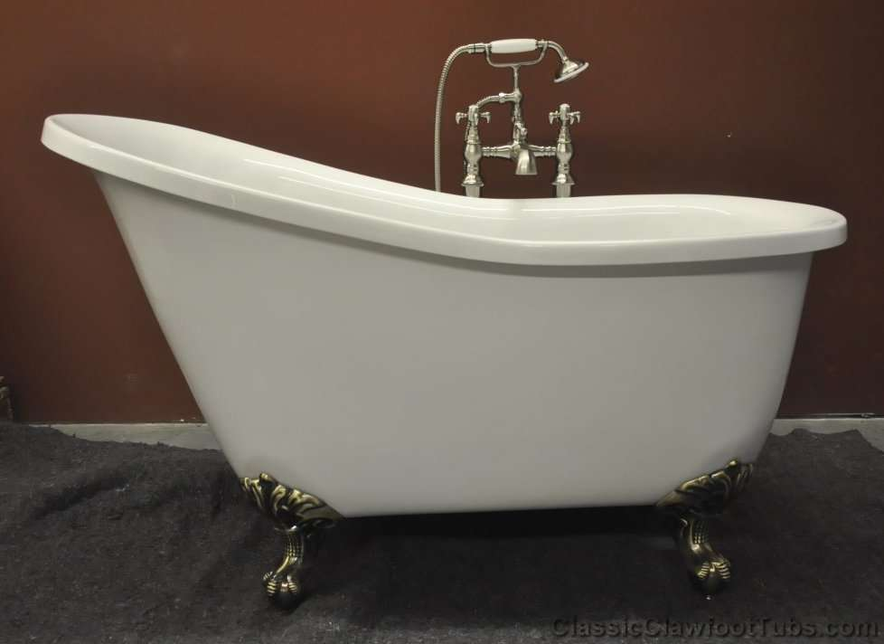 "Pictures Of Clawfoot Bathtubs: 51"" Acrylic Slipper Clawfoot Tub"
