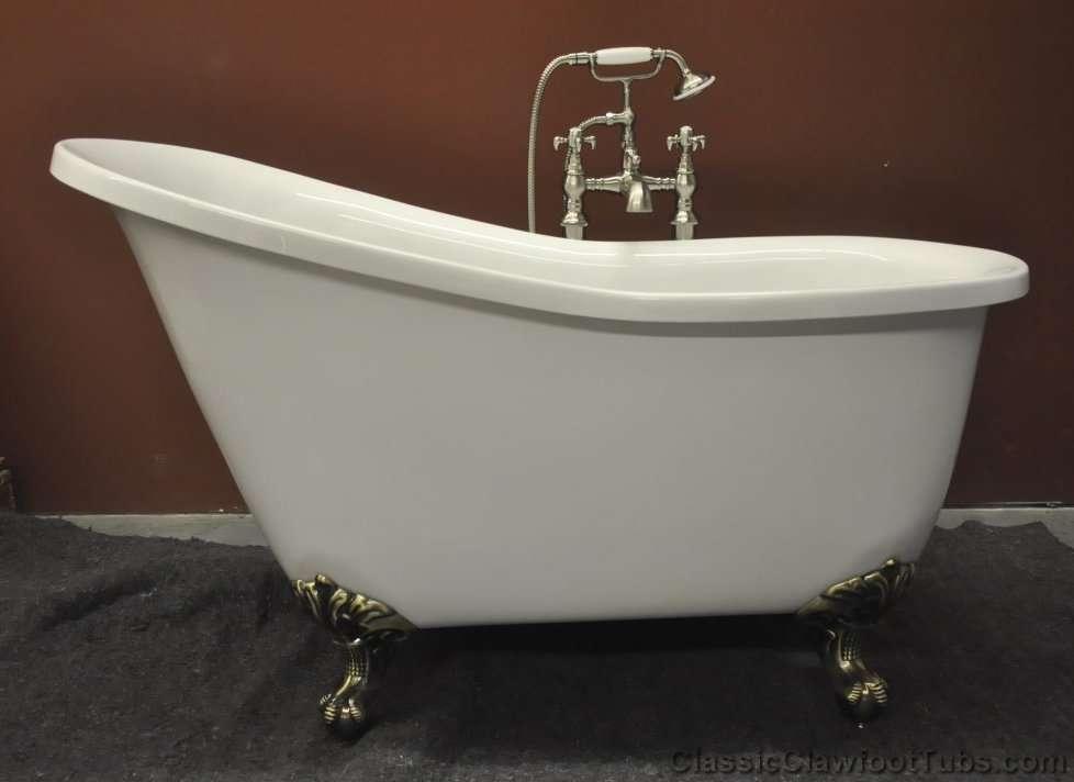 51 acrylic slipper clawfoot tub classic clawfoot tub for Claw foot bath tubs