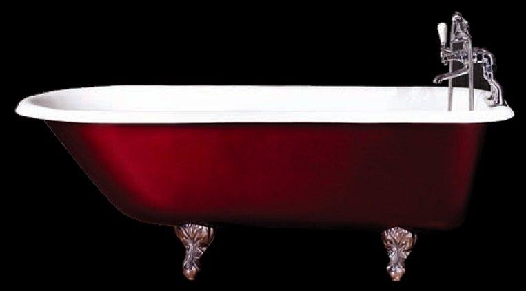 """67"""" Rolled Rim Cast Iron Clawfoot Tub"""