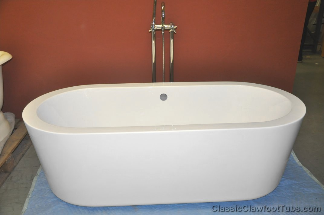 70 acrylic double ended 1 piece modern tub classic
