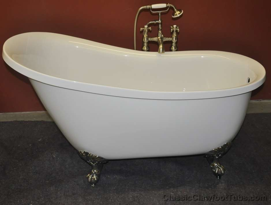 "Pictures Of Clawfoot Bathtubs: 55"" Acrylic Slipper Clawfoot Tub"