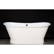 "67"" Cast Iron Double Ended Slipper Pedestal Tub"