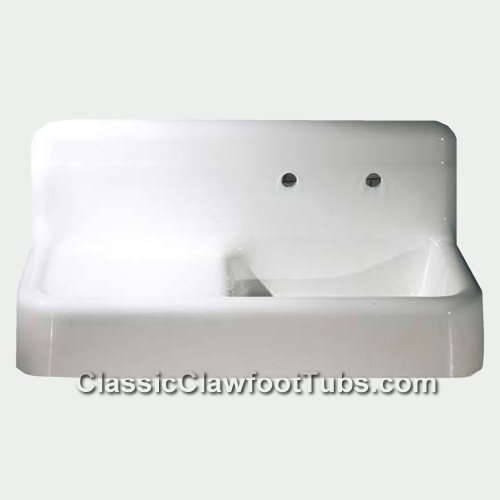 42 Quot Cast Iron Farmhouse Apron Sink W Drain Board