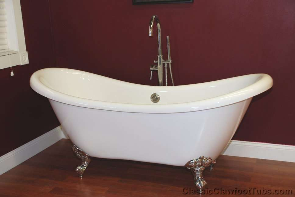 69 Acrylic Double Ended Slipper Clawfoot Tub Classic Clawfoot Tub