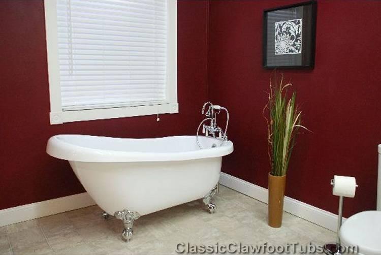 67 Acrylic Slipper Clawfoot Tub Classic Clawfoot Tub