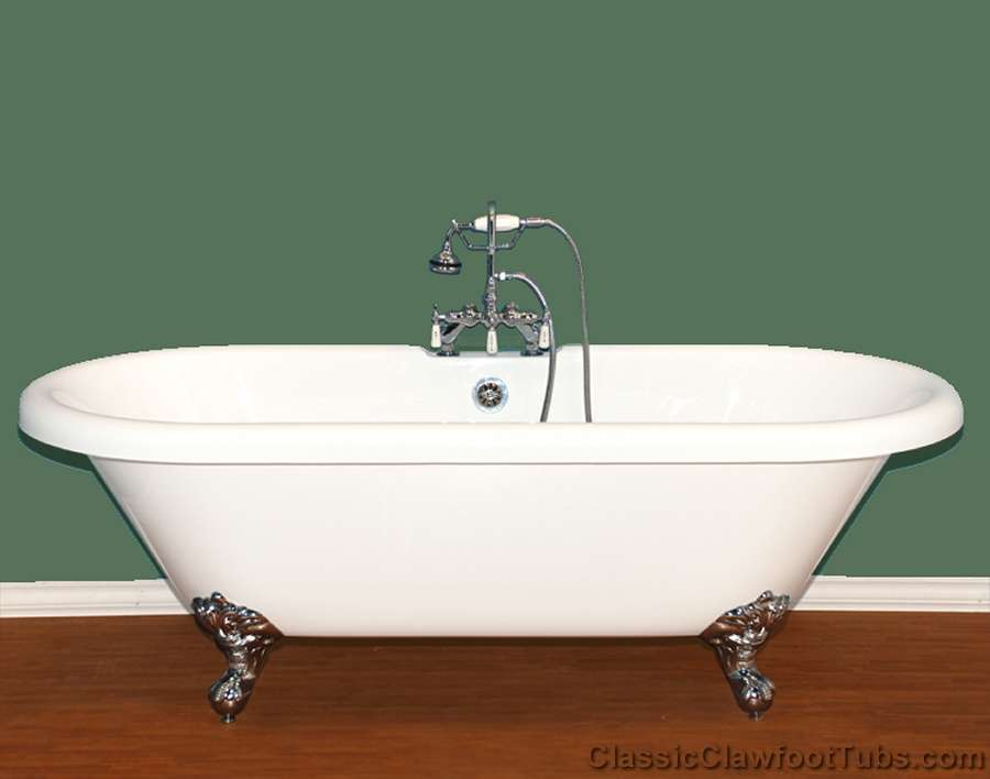 70 Acrylic Double Ended Clawfoot Tub Classic Clawfoot Tub