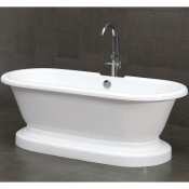"70"" Acrylic Double Ended Pedestal Bathtub"