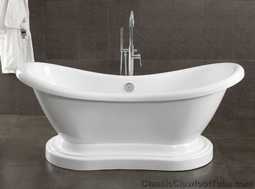 69 Quot Acrylic Double Ended Slipper Pedestal Tub Classic