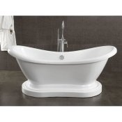 "69"" Acrylic Double Ended Slipper Pedestal Tub"