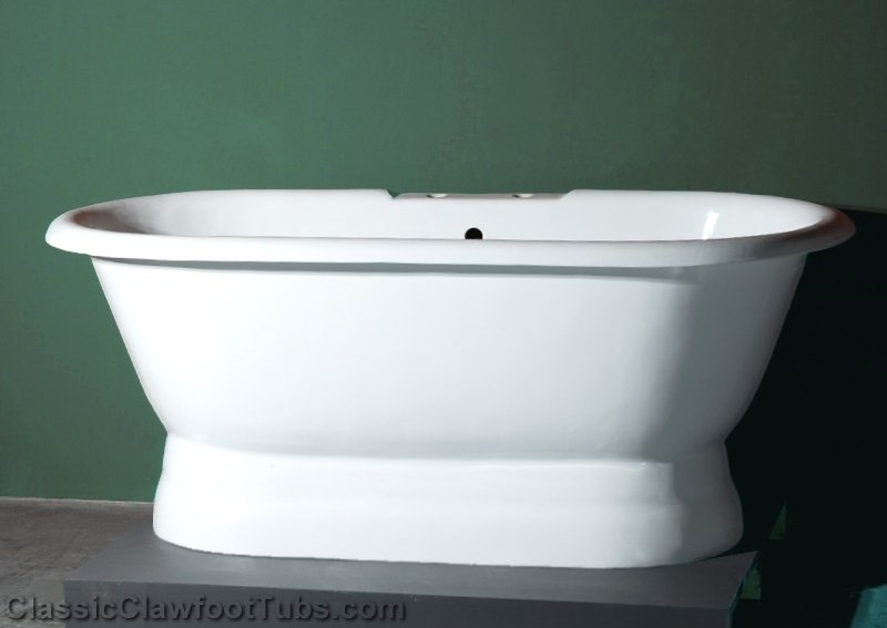 """66"""" Cast Iron Double Ended Pedestal Tub 