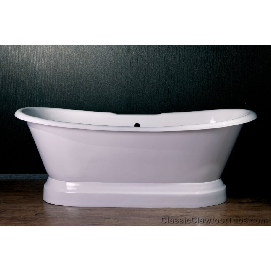 71 Cast Iron Double Ended Slipper Pedestal Tub Classic