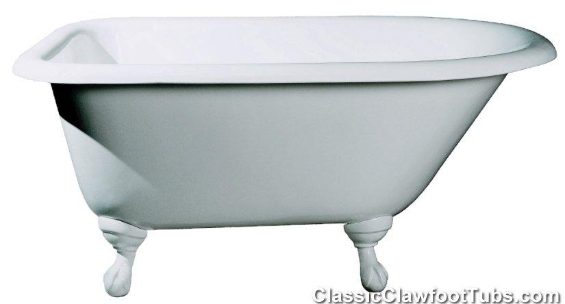 48 inch freestanding tub. 48\u0026quot; rolled rim cast iron clawfoot tub 48 inch freestanding k