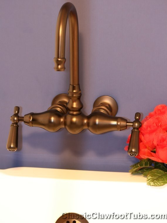 3 Ball Clawfoot Tub Faucet With Gooseneck Spout Classic