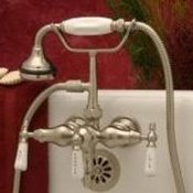 Clawfoot Tub Small Spout Faucet w/ Hand-held shower