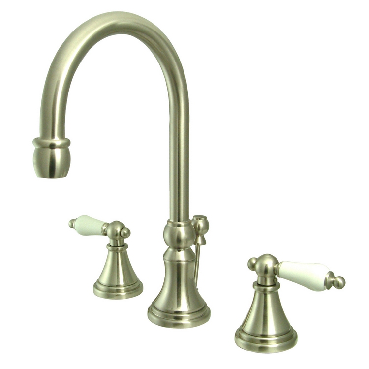 Victorian 8 Quot Widespread Gooseneck Faucet Set W Pop Up