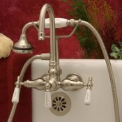 Clawfoot Tub Gooseneck Faucet w/ Hand-held shower