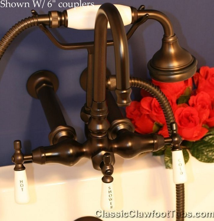 Clawfoot Tub Gooseneck Faucet w/ Hand-held shower | Classic ...