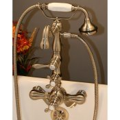 Clawfoot Tub Thermostatic Faucet w/ Hand-held Shower
