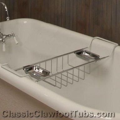 Adjustable Sponge Amp Soap Tray Classic Clawfoot Tub