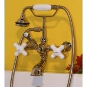 Clawfoot Tub British Telephone Faucet W Hand Held Shower