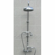 Exposed Wall Mount Thermostatic Shower w/Rain Shower Head & Handheld unit -SH685