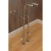 Freestanding leg Tub Supply Set w/ Shutoffs