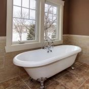 "70"" Acrylic Double Ended Clawfoot Tub"