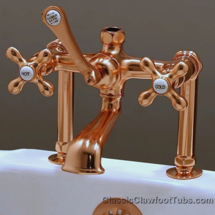 Clawfoot Tub Deckmount British Telephone Faucet w/ Diverter ...