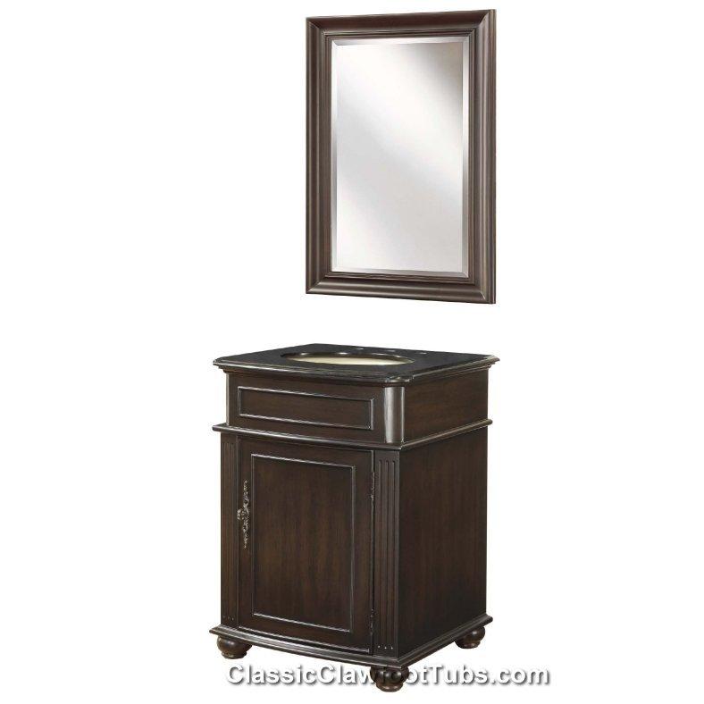 24 Vanity Cabinet Set Classic Clawfoot Tub