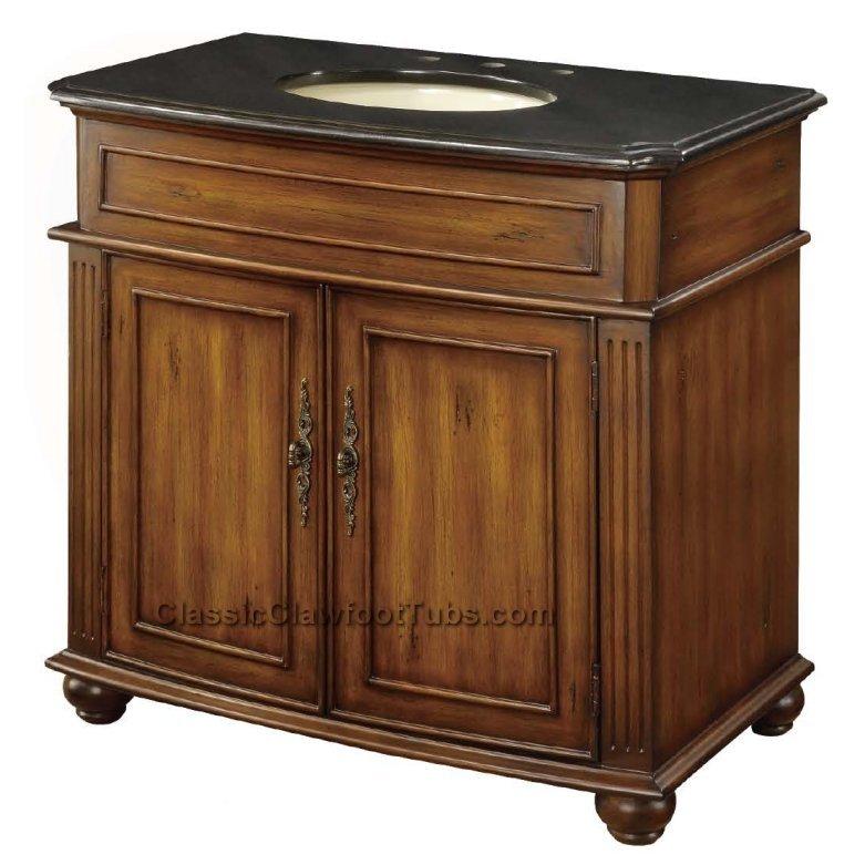 36 Quot Vanity Cabinet Classic Clawfoot Tub