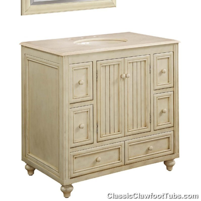 36 shaker bathroom vanity classic clawfoot tub for Bathroom 36 vanities