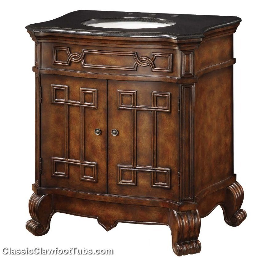 30 Antique Sink Vanity Classic Clawfoot Tub
