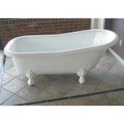 small acrylic clawfoot tub. 60  Acrylic Slipper Clawfoot Tub Bath Tubs Classic