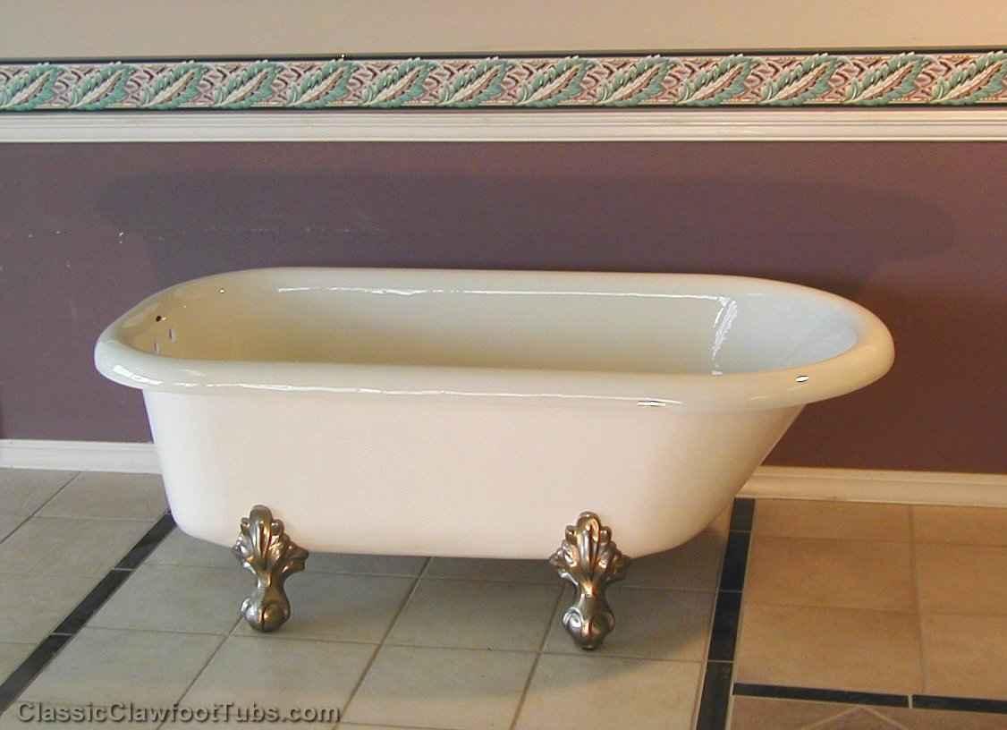 60 Quot Acrylic Rolled Rim Clawfoot Tub Classic Clawfoot Tub
