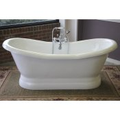 "68"" Acrylic Double Ended Slipper Pedestal Tub"