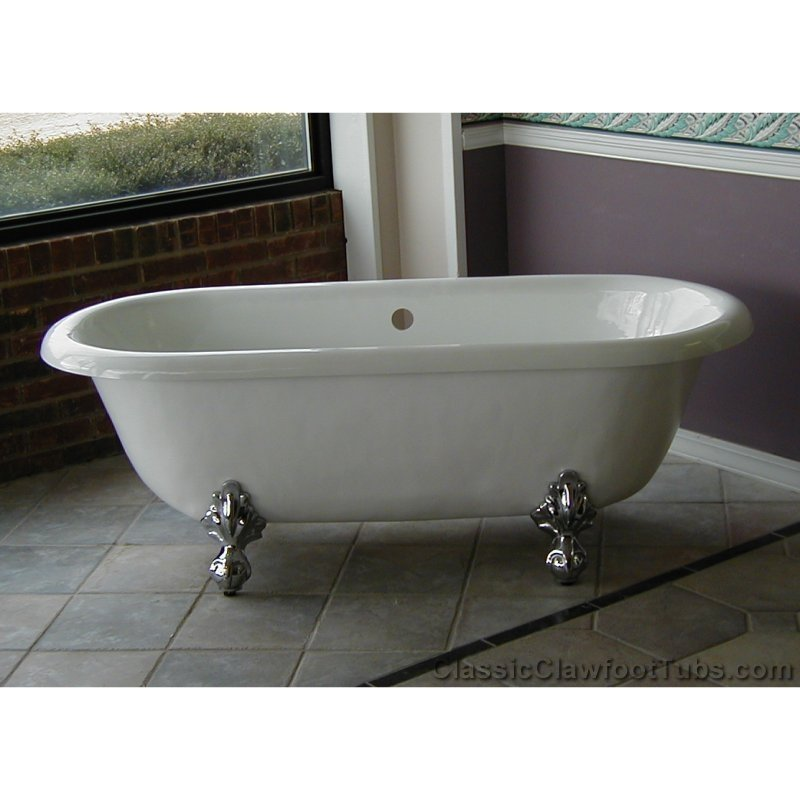 double slipper clawfoot tub acrylic. 66 quot  Acrylic Double Ended Clawfoot Tub Classic