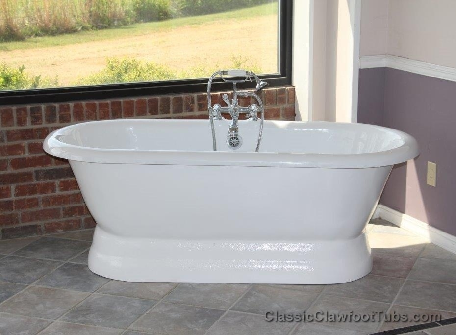 66 Acrylic Double Ended Pedestal Tub Classic Clawfoot Tub
