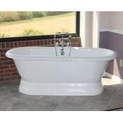 "66"" Acrylic Double Ended Pedestal Tub"