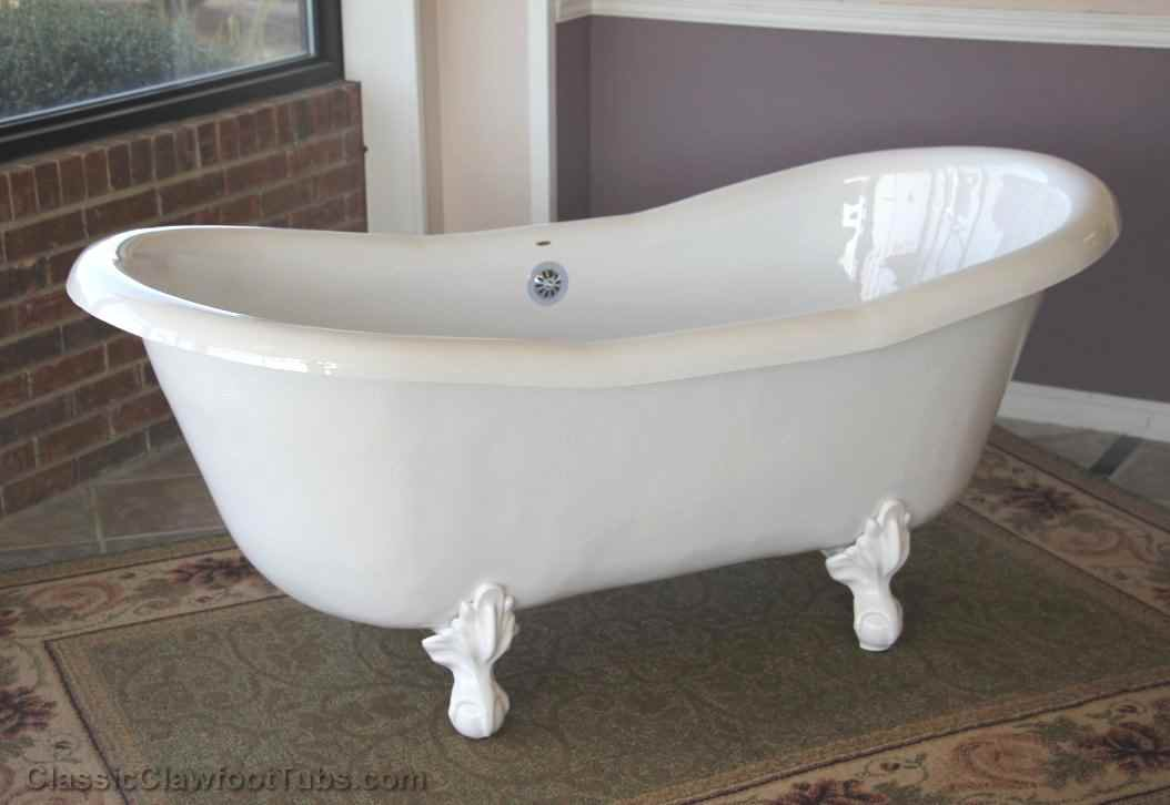 "Pictures Of Clawfoot Bathtubs: 68"" Acrylic Double Ended Slipper Clawfoot Tub"